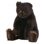 Brown Grizzly Bear Seated