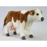 """Cow Brown & White 16""""L"""