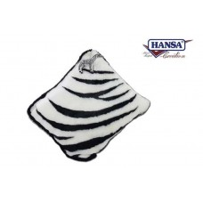 Zebra Throw Pillow w/ Zebra Keychain