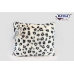 Snow Leopard Throw Pillow w/ Keychain