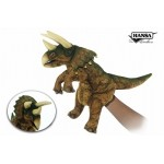 "Triceratops Puppet (Brown/Green) 17""L"