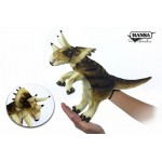 "Triceratops Puppet (Cream / Brown) 17""L"